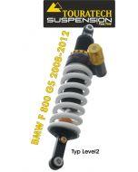 Touratech Suspension ressort-amortisseur pour BMW F800GS jusqu'a 2012 de type Level2