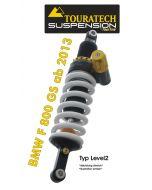 Touratech Suspension ressort-amortisseur pour BMW F800GS à partir de 2013 de type Level2/ExploreHP