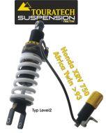 Touratech Suspension ressort-amortisseur pour Honda XRV750 Africa Twin á partir de 1993 de type Level2/ExploreHP