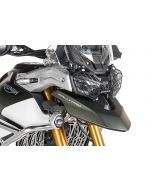 Headlamp guard black with quick release fastener for Triumph Tiger 900 Rally *OFFROAD USE ONLY*