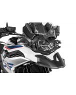 Protection de phare inox noire à attache rapide pour BMW F850GS / F750GS *OFFROAD USE ONLY*