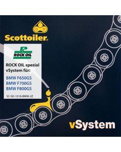 Système de graissage de chaîne Scottoiler vSystem, pour BMW F650GS / F700GS / F800GS (2008-2016)