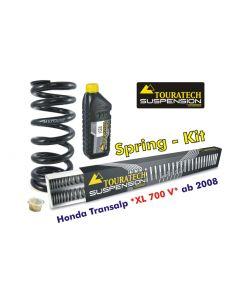 Ressorts de rechange progressifs Hyperpro pour fourche et ressort-amortisseur, Honda Transalp '08