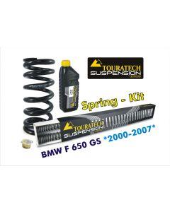 Ressorts de rechange progressifs Hyperpro pour fourche et ressort-amortisseur, BMW F650GS *2000-2007* *ressort de rechange*