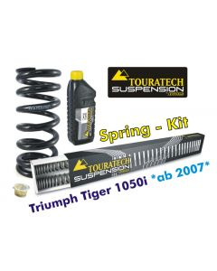 Progressive replacement springs for fork and shock absorber, Triumph Tiger 1050i from 2007