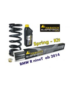 Progressive replacement springs for fork and shock absorber, BMW R nineT from 2014 Touratech Suspension