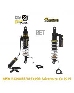 Touratech Suspension DDA / Plug & Travel SUSPENSION-SET for BMW R1200GS Adventure (LC) / R1250GS Adventure from  2014