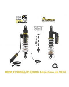 KIT CHÂSSIS Touratech Suspension Plug & Travel Abaissement -40mm  pour BMW R1200GS Adventure (LC) / R1250GS Adventure à partir de 2014