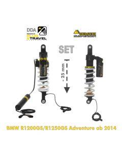 KIT CHÂSSIS Touratech Suspension Plug & Travel Abaissement -25mm  pour BMW R1200GS Adventure (LC) / R1250GS Adventure à partir de 2014