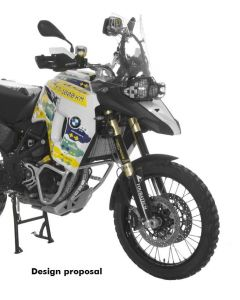 Large front tank for BMW F800GS (from 2013), black