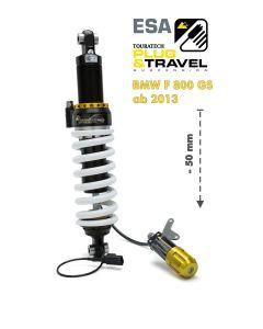 Touratech Suspension, abaissement (-50mm) pour BMW F800GS à partir de 2013 Type : Plug & Travel pour BMW ESA