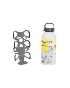 ZEGA Pro/ZEGA Mundo adaptateur support de bouteille simple avec Touratech bouteille en aluminium de 0,6 litres