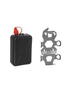ZEGA Pro2 set de support accessoires, adaptateur jerrican incl. bidon d'huile Touratech 2 litres