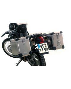 ZEGA Pro système de coffre aluminium 45/45 litres avec support acier noir pour Yamaha XT660R
