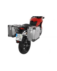 ZEGA Pro système de coffre aluminium 31/31 litres avec support acier inoxydable pour Ducati Multistrada 1200 jusqu'a 2014