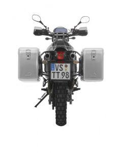 ZEGA Mundo système de coffre aluminium 38/38 litres avec support acier noir pour Yamaha XT660R