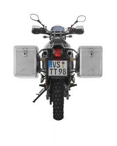 ZEGA Mundo système de coffre aluminium 45/45 litres avec support acier noir pour Yamaha XT660R