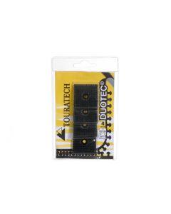 Duotec ® Fermeture scratch fortifiée 4 pièce a 32 mm x 32 mm, fixation du système par vis