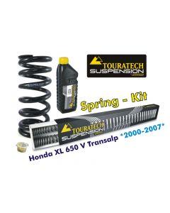 Ressorts de rechange progressifs Hyperpro pour fourche et ressort-amortisseur, Honda XL650V Transalp *2000-2007* *ressort de rechange*