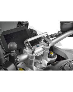 Adaptateur GPS pour rehausse de guidon 35 mm BMW F850GS / F850GS Adventure pour montage aux supports du guidon support pour systèmes de navigation
