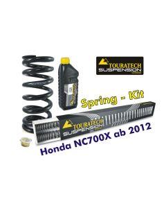 Ressorts de rechange progressifs Hyperpro pour fourche et ressort-amortisseur pour Honda NC700X à partir de 2012 *ressort de rechange*