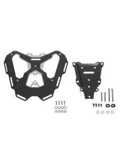 """Porte-bagages alu/acier inoxydable """"noir"""" pour KTM 1050 Adventure/ 1090 Adventure/ 1290 Super Adventure/ 1190 Adventure(R)"""