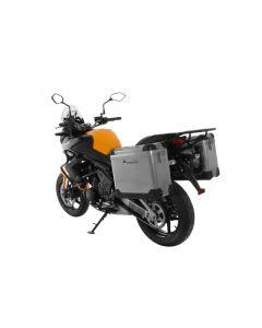 ZEGA Pro système de coffre aluminium 31/31 litre avec support acier noir pour Kawasaki Versys 650 (2010-2014)