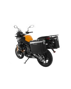 """ZEGA Pro système de coffre aluminium """"And-Black"""" 31/31 litre avec support acier noir pour Kawasaki Versys 650 (2010-2014)"""