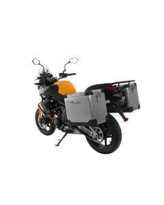 ZEGA Pro système de coffre aluminium 45/45 litre avec support acier noir pour Kawasaki Versys 650 (2010-2014)
