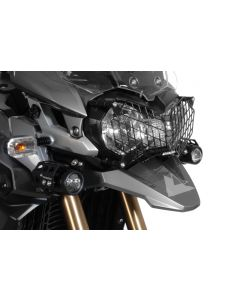 Protection de phare en inox noir à attache rapide pour Triumph Tiger 800/ 800XC/ 800XCx et Tiger Explorer *OFFROAD USE ONLY*