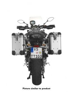 """ZEGA Pro système de coffre aluminium """"And-S"""" 31/31 litres avec support acier inoxydable noir pour Yamaha MT-09 Tracer (2015-2017)"""