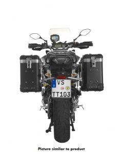 """ZEGA Pro système de coffre aluminium """"And-Black"""" 31/31 litres avec support acier inoxydable noir pour Yamaha MT-09 Tracer (2015-2017)"""