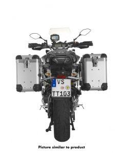 """ZEGA Pro système de coffre aluminium """"And-S"""" 38/38 litres avec support acier inoxydable noir pour Yamaha MT-09 Tracer (2015-2017)"""