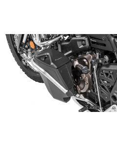 Boîte à outils avec arceau de protection moteur - Kit de mise à niveau - gauche, inox pour Yamaha Tenere 700