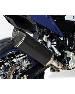 Silencieux REMUS Black Hawk slip on, inox noir, tout homologué pour Yamaha Tenere 700